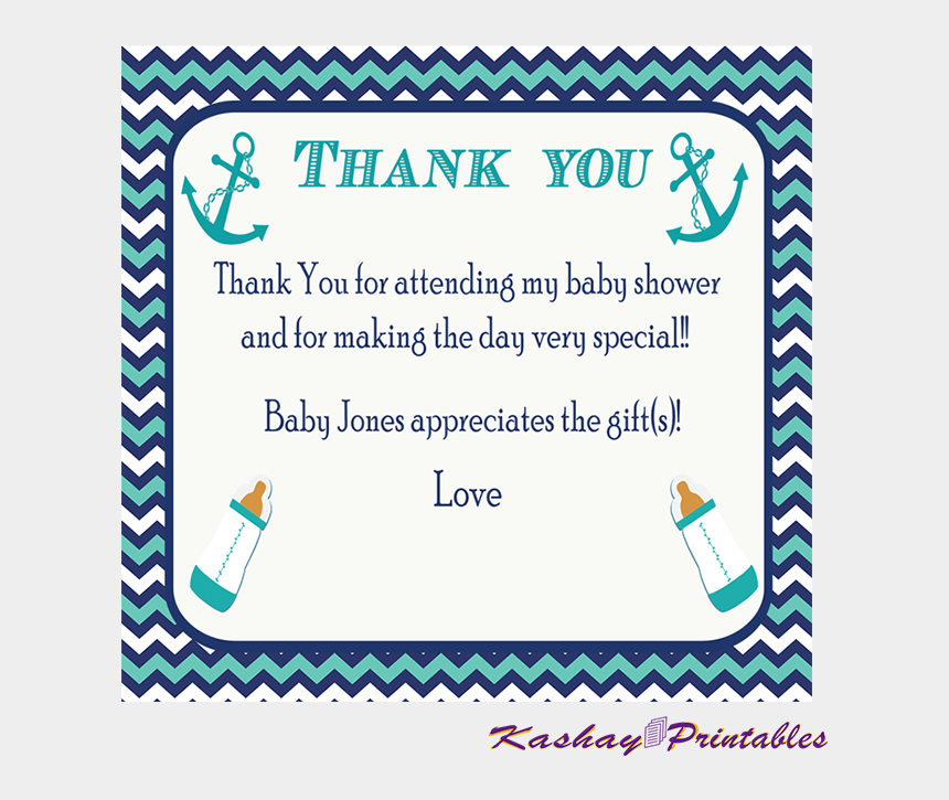 baby shower whale clipart, Cartoons - Nautical Baby Shower Thank You Card Kashay Printables - Baby Shower Thank You Cards Templates