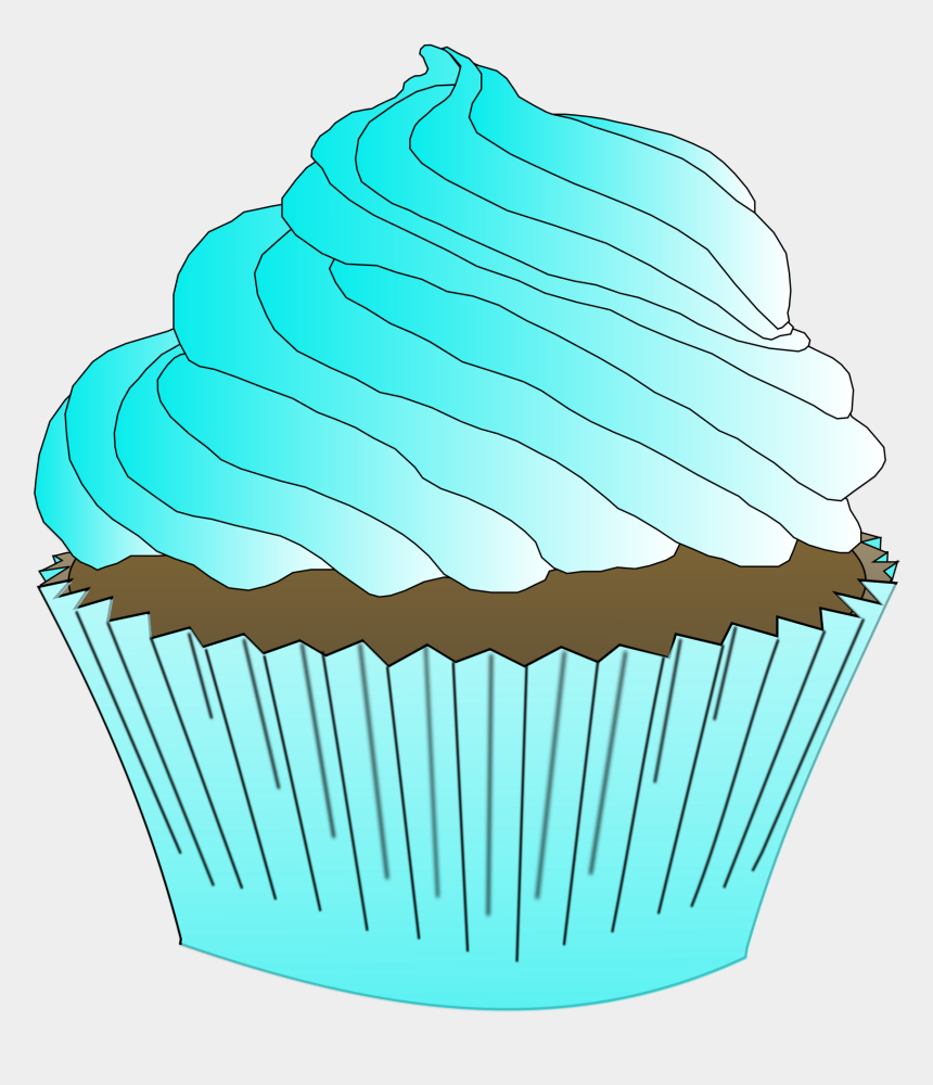 cupcakes with sprinkles clipart, Cartoons - Clipart Cupcake Teal - Teal Cupcake
