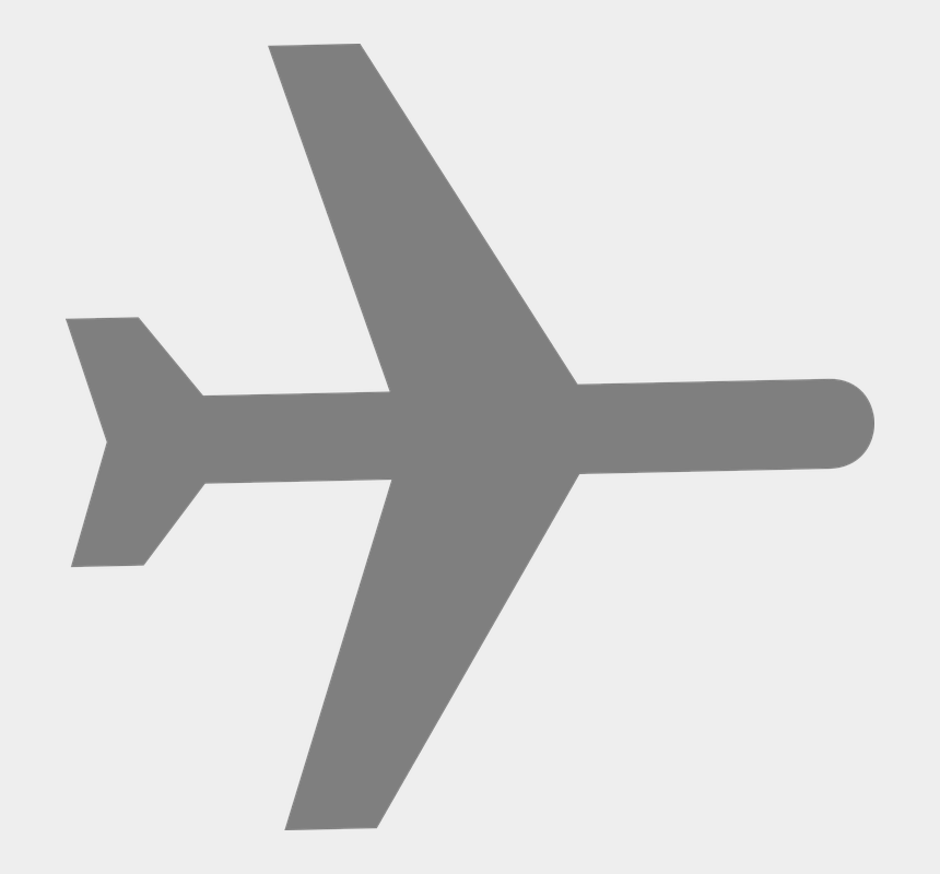 airplane taking off clipart, Cartoons - Airplane Aircraft Airline Plane Grey Silhouette - White Plane Clip Art