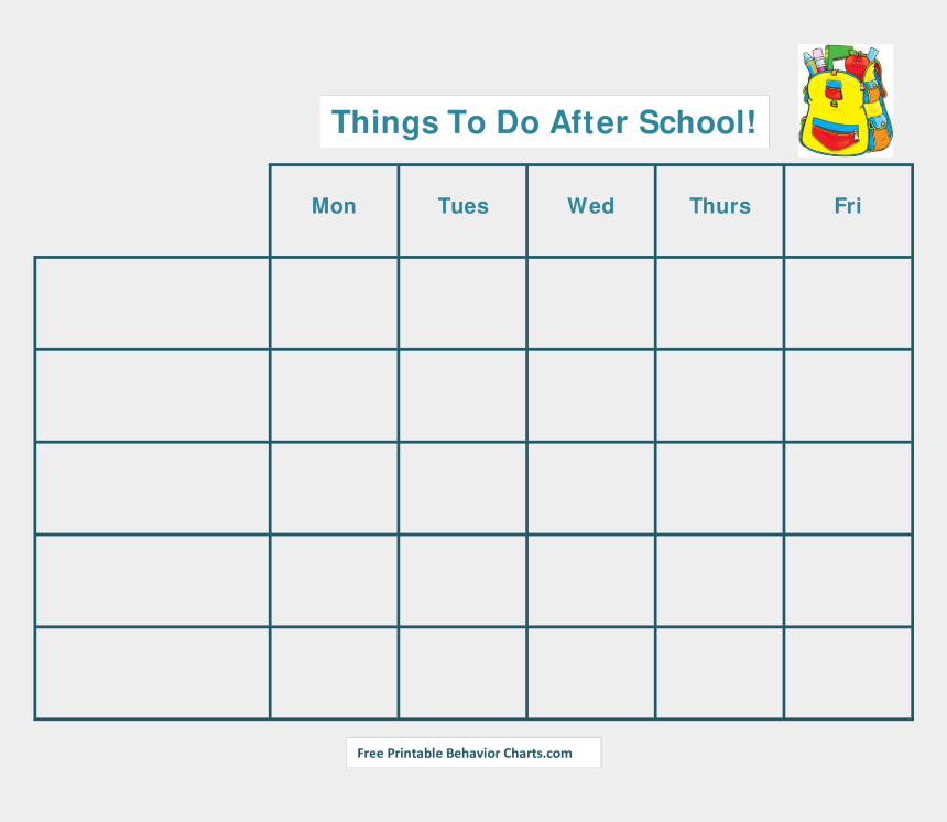 daily schedule clipart, Cartoons - Free Printable After School Schedule Templates At - After School Schedule Template