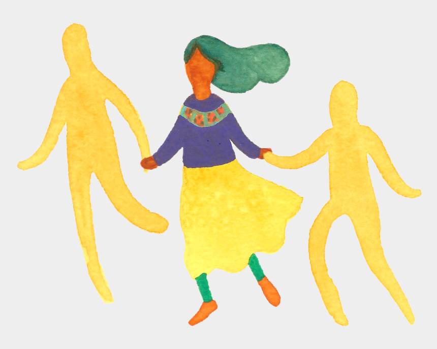 kids holding hands clipart, Cartoons - Circle Dancing - Flowers Dancing In Circle