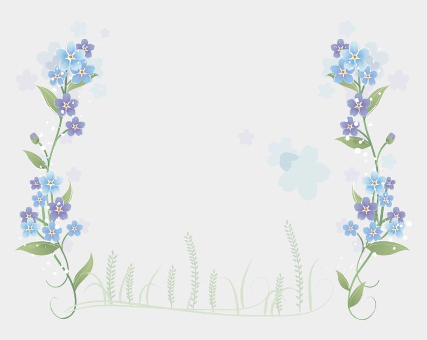 flowers border clipart, Cartoons - Blue Flowers Flower Border Hand Painted Free Clipart - Border Blue Flowers Png