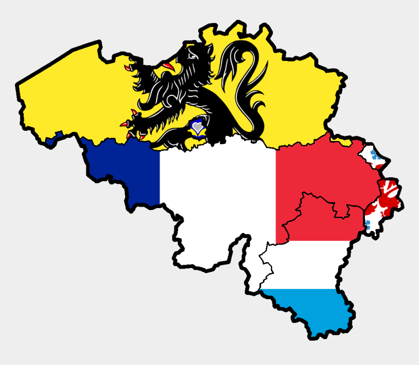 language art clipart, Cartoons - Belgium Flag Png - Made Up Country Map