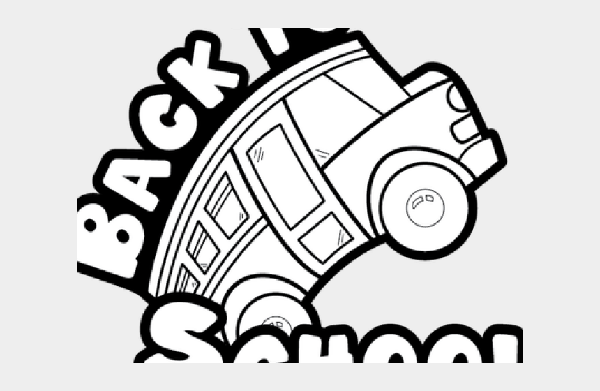 teaching clipart black and white, Cartoons - Back To School Clipart Black And White - Black And White School Bus Clip Art Free