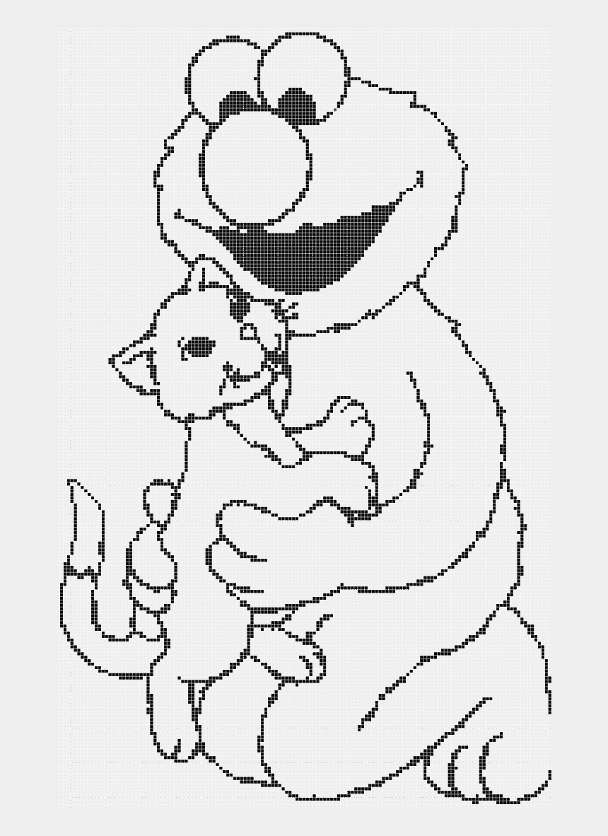 Elmo And Cat Coloring Page Drawing Cliparts Cartoons