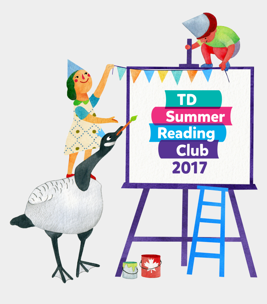 to read clipart, Cartoons - Get Your Summer Read On - Td Summer Reading Club 2017