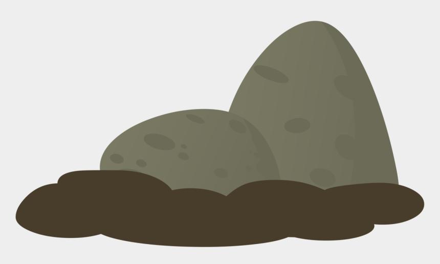 boulder clipart, Cartoons - Boulder Clipart Glitch - Rock With Moss Png Cartoon
