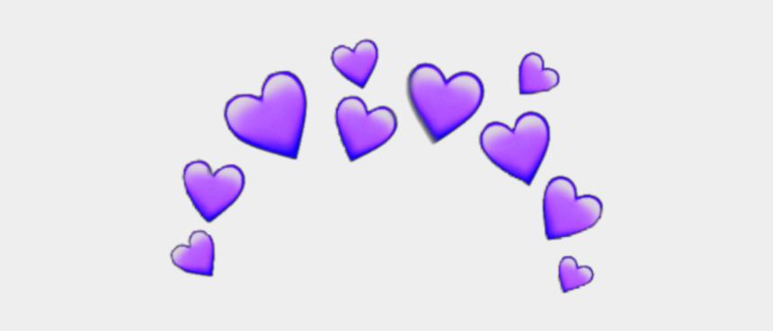 purple hearts clipart, Cartoons - #purple #heart #crown #heartcrown #emoji #iphone #random - Orange Heart Emoji Crown