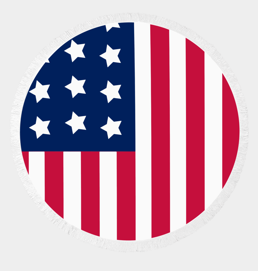 united state clipart, Cartoons - Flag Of The National Clip Art Usa Ⓒ - American Flag Circle Png