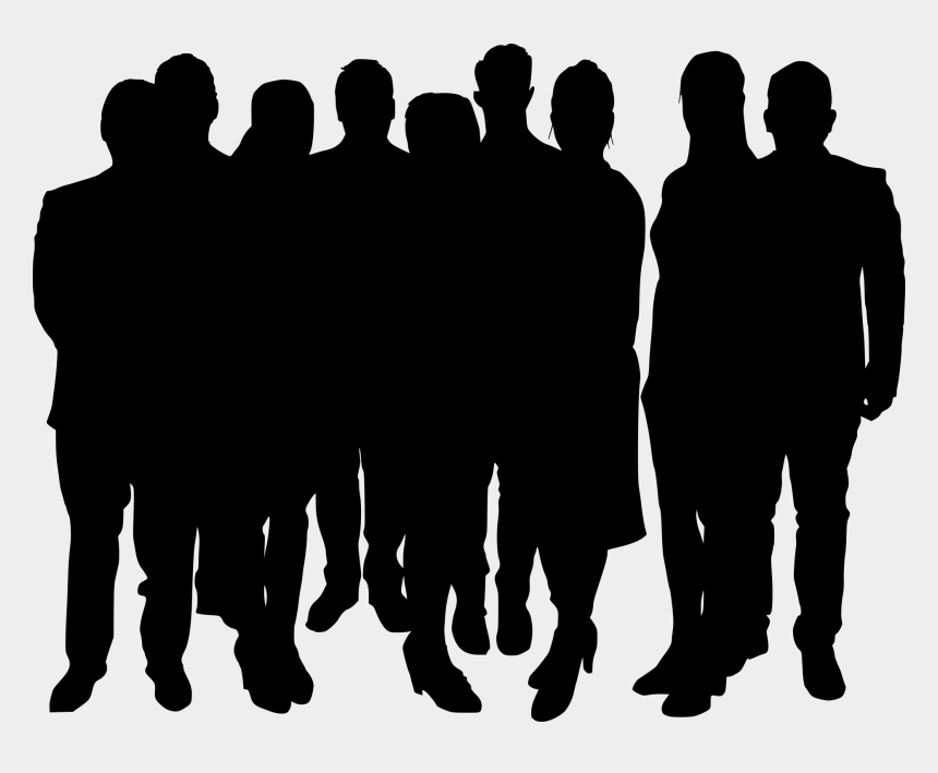 groups of people clipart, Cartoons - Kind Clipart Group 10 Person - Silhouette Crowd People Png