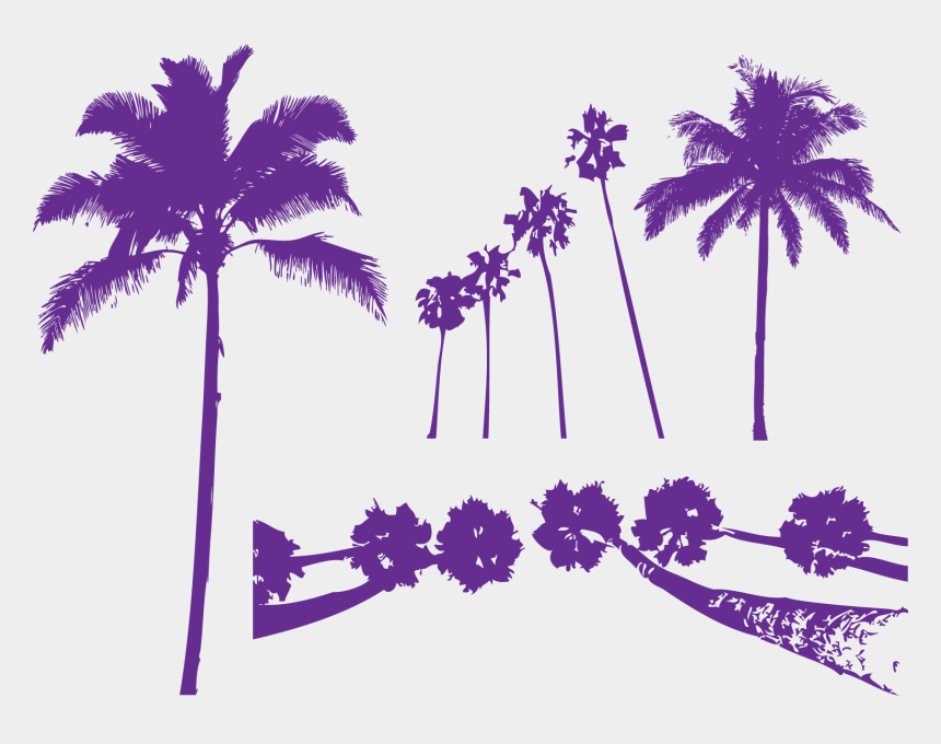 pool party cliparts, Cartoons - Areca Palm Tree Purple Arecaceae - Colorful Palm Tree Silhouette