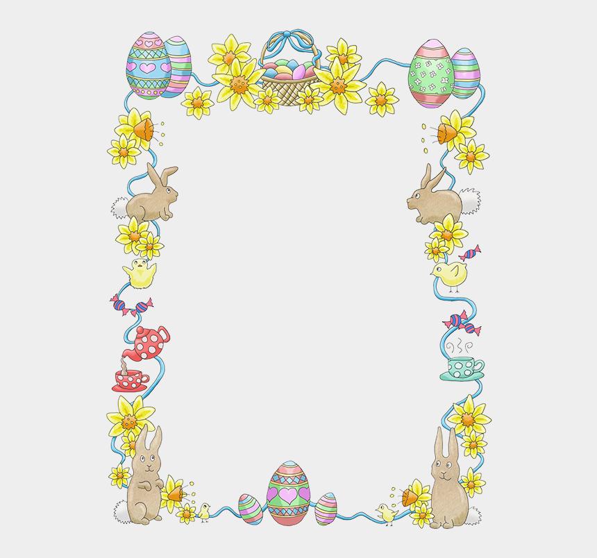 Easter Border Clipart - Easter Theme Border Clipart ... (860 x 804 Pixel)