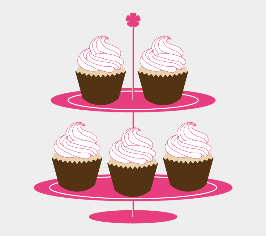 stand clipart, Cartoons - Cupcakes On Stand Clipart - Transparent Free Cupcake Clipart Png