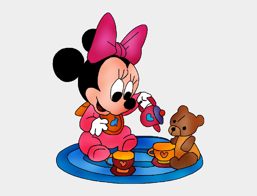 abuse clipart, Cartoons - Minnie Mouse With Teddy Bear - Baby Disney Cartoon Characters Png
