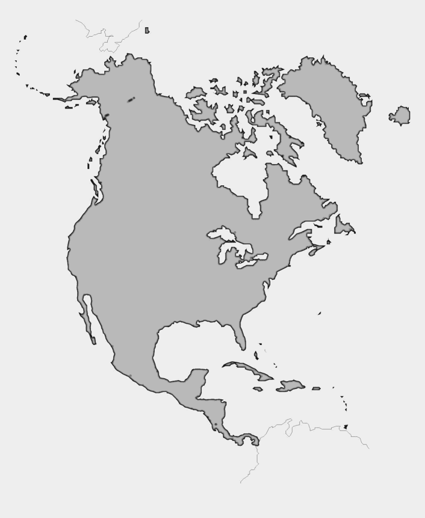 north america clipart, Cartoons - North America Map Png Image - Map Of North America Without Borders