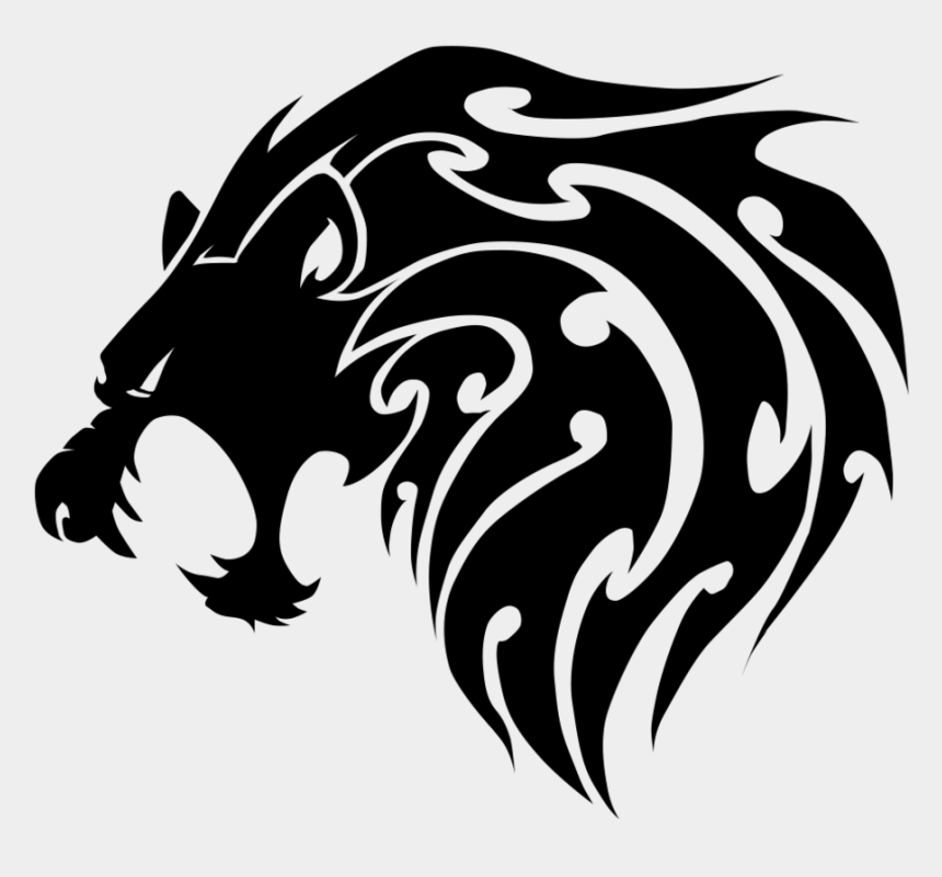 Lion tribal. Skunk vector face drawing