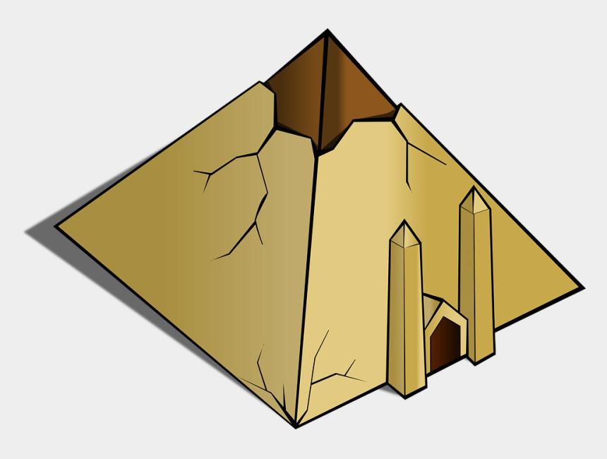 tomb clipart, Cartoons - Pyramid Ruin Egyptian Ancient Grave Exterior - Pyramid Objects Clipart