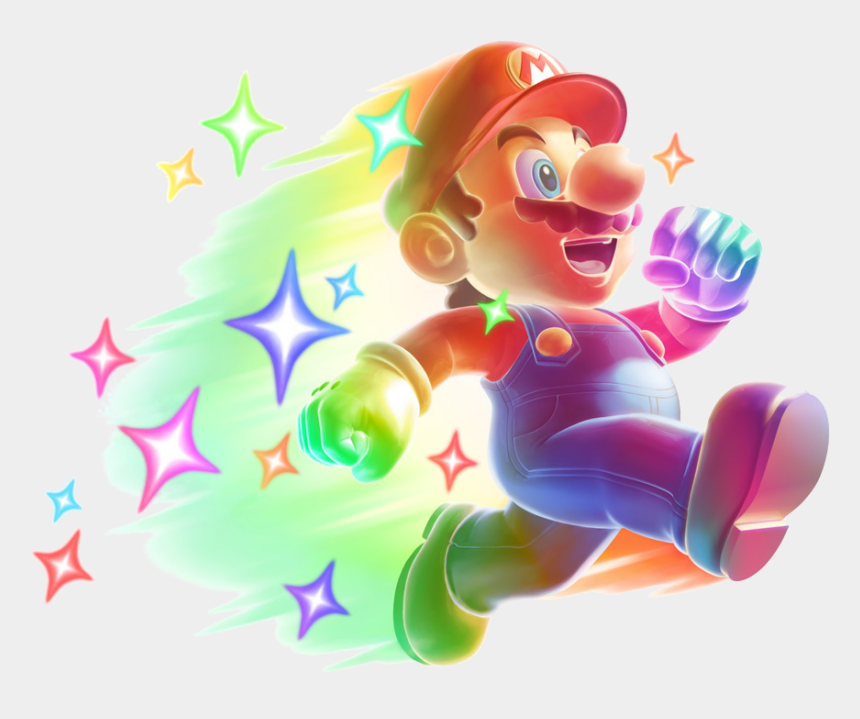 random clipart, Cartoons - Mario Bros Clipart Random - Mario Star Power