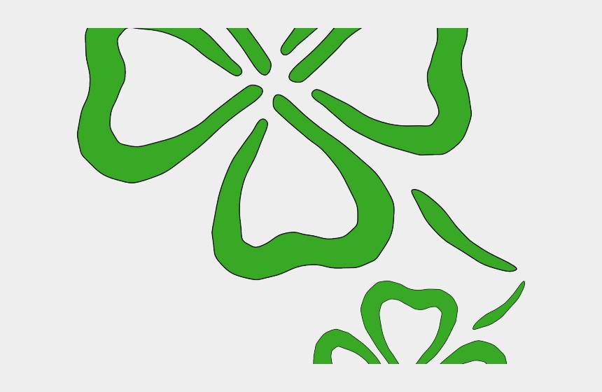shamrock clipart no background, Cartoons - Shamrock Clipart Transparent Background - Two Four Leaf Clovers