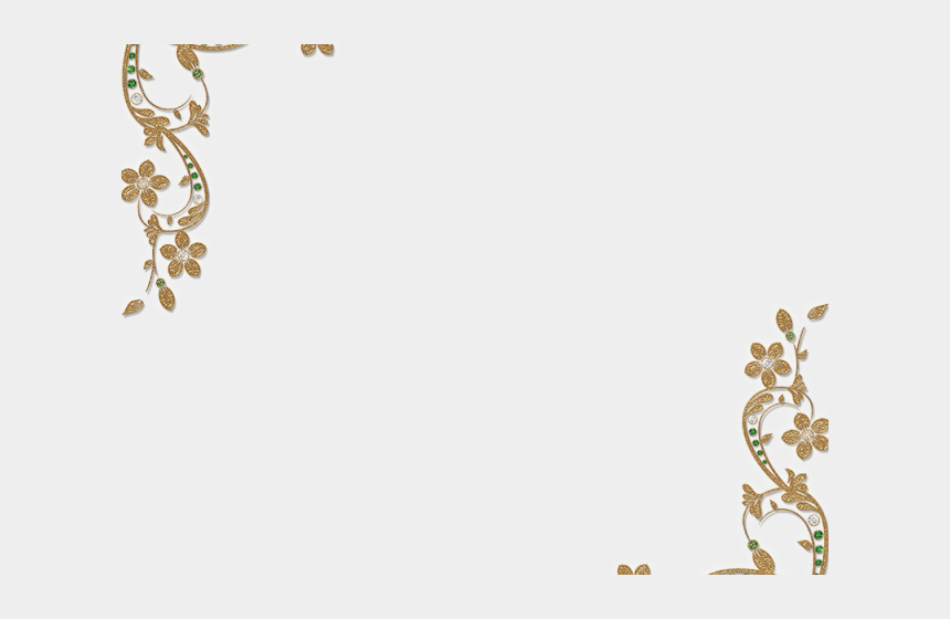 gold bar clipart, Cartoons - Golden Clipart Gold Corner - Gold Lace Border Transparent