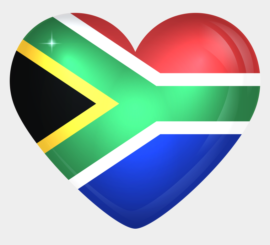southern clipart, Cartoons - South Africa Png - South Africa Flag Heart
