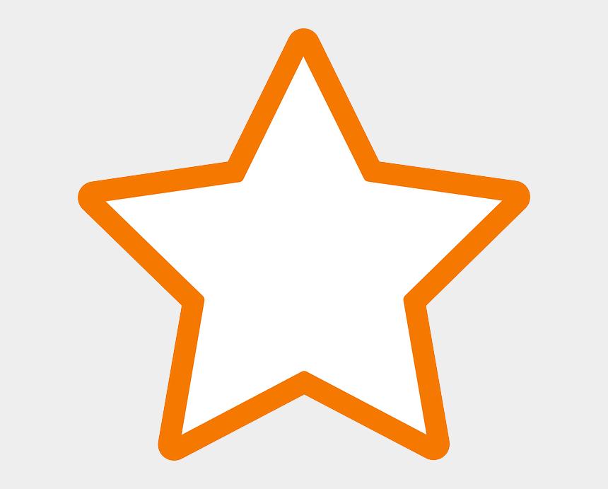 stardust clipart, Cartoons - White Star Clip Art - Orange Star Outline