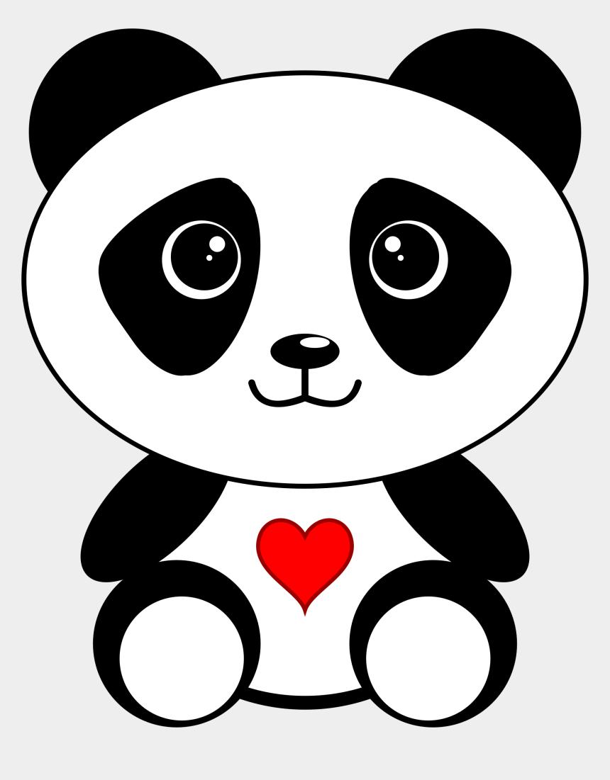 lemur clipart, Cartoons - Panda Clipart Small - Cute Cartoon Panda Bear
