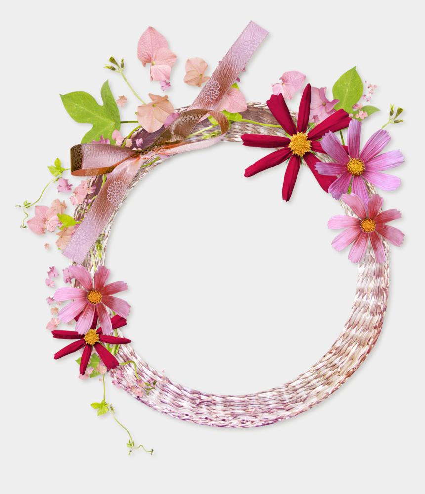 circle frame clipart, Cartoons - Floral Frame Png - Flower Frame Background Png