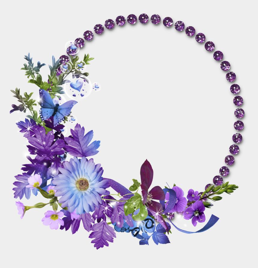 circle frame clipart, Cartoons - Floral Round Frame Png Transparent Image - Circle Flower Frame Png