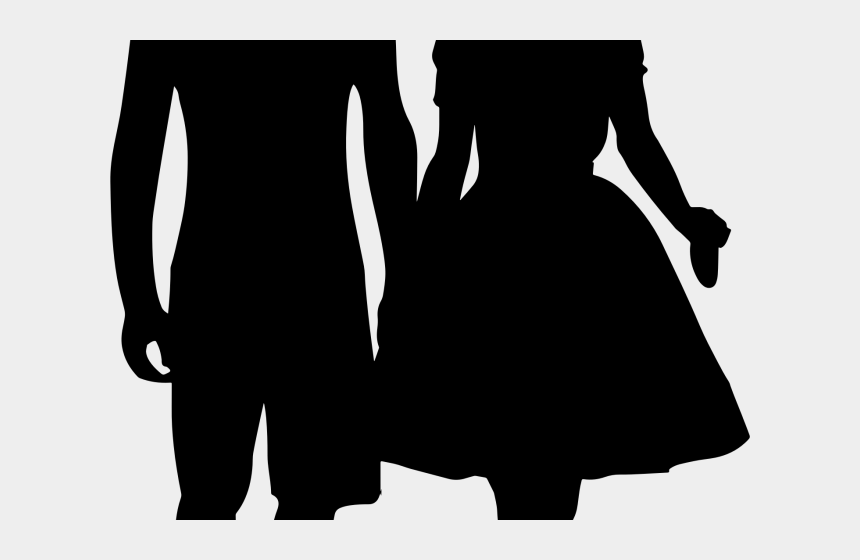 people holding hands clipart, Cartoons - Romantic Clip Art - Boy And Girl Holding Hands Silhouette