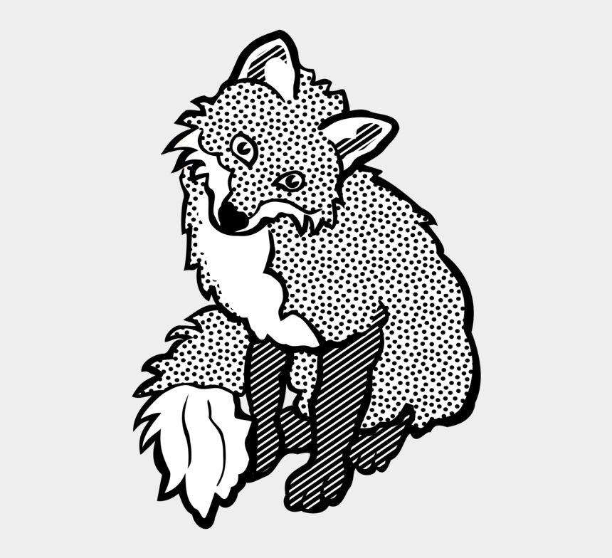 arctic clipart, Cartoons - Arctic Fox Drawing Line Art Red Fox - Fox Clipart Black And White Png