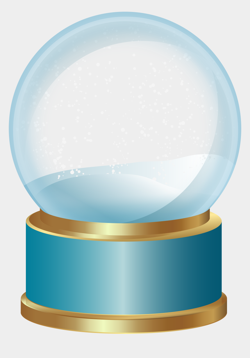 snowing clipart, Cartoons - Clipart Snow Teal - Transparent Empty Snow Globe Png