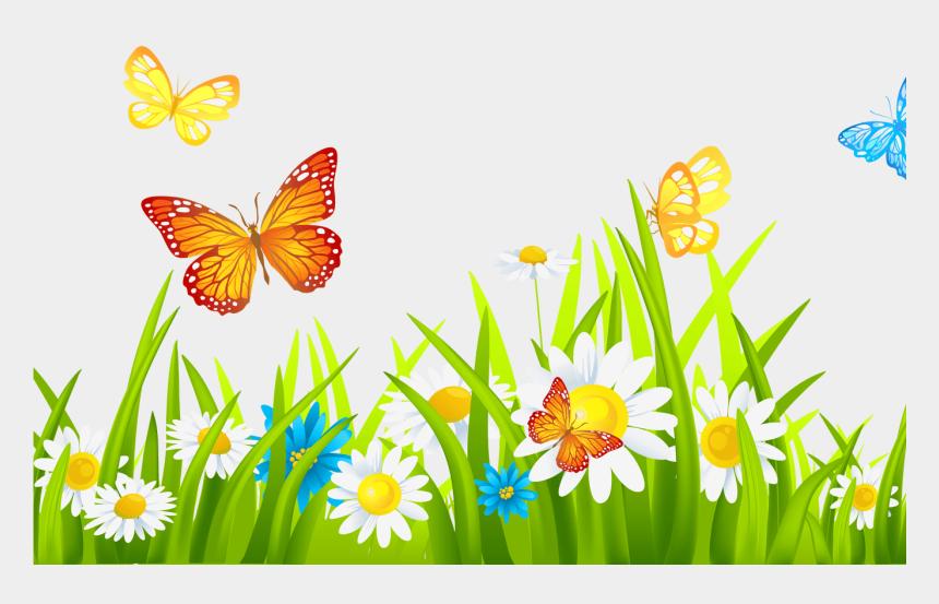 spring flowers and butterflies clipart, Cartoons - Flowers Clipart Png - Garden Clipart