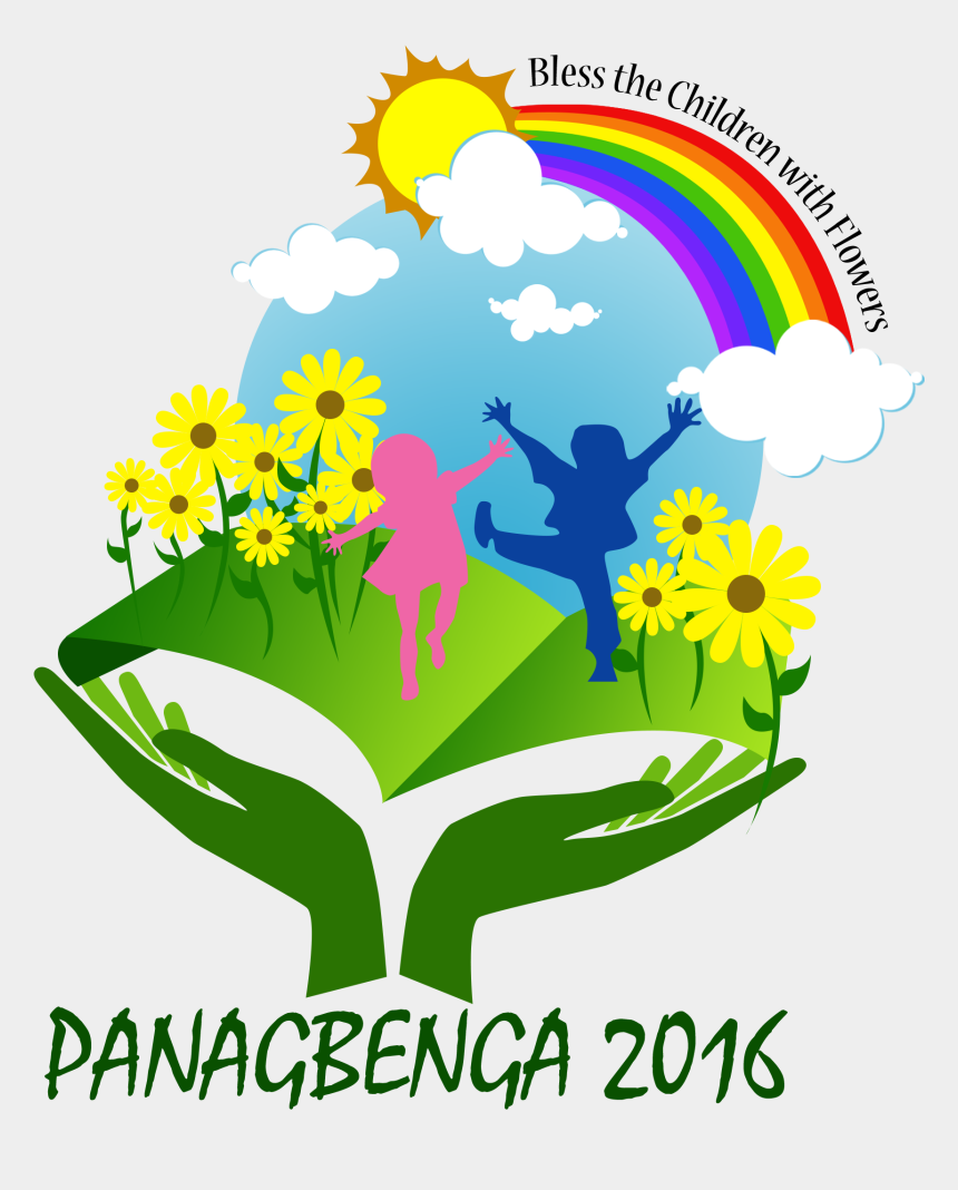 """blessing clipart, Cartoons - Panagbenga 2016 Logo, """"bless The Children With Flowers"""" - Panagbenga Festival Logo 2015"""