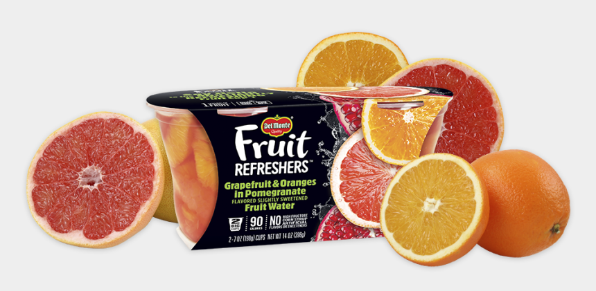pomegranate clipart, Cartoons - Fruit Refreshers® Grapefruit & Oranges In Pomegranate - Del Monte Fruit Refreshers