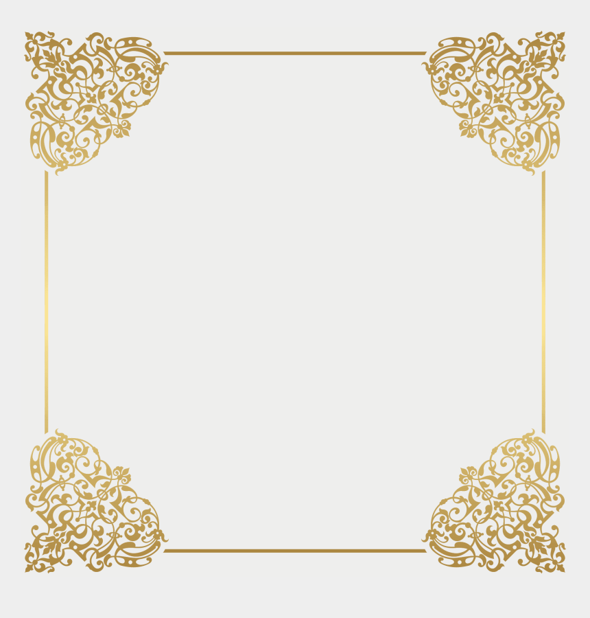 gold design clipart, Cartoons - Picture Frames, Gold - Gold Borders And Frames Png