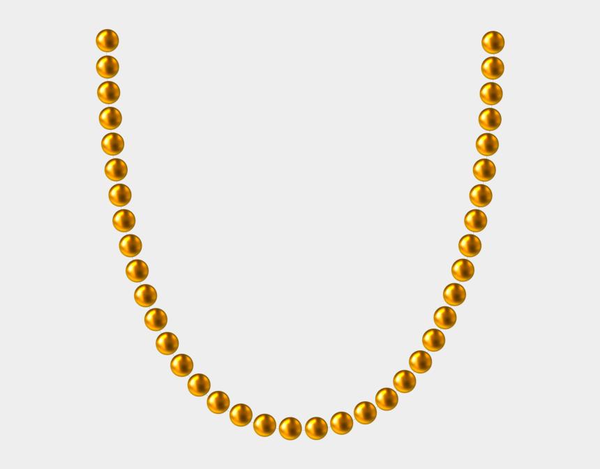 gold design clipart, Cartoons - #gold #golden #balls #beads #decoration #deco #accents - Gold Bead Necklace Transparent