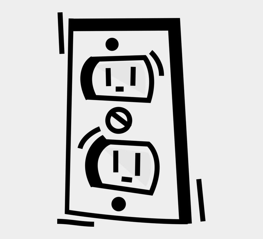 electrical plug clipart, Cartoons - Electrical Receptacle Image Illustration