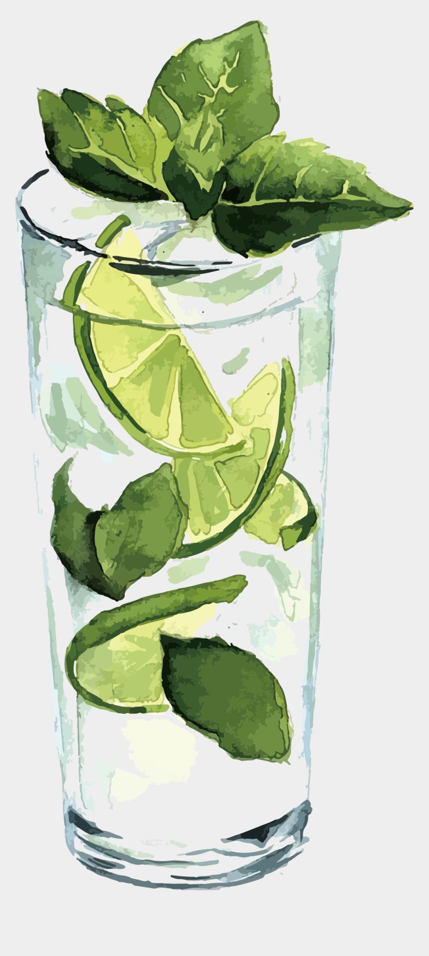 mint clipart, Cartoons - Lemon Clipart, Juice, Clip Art, Juice Fast, Juicing, - Free Watercolor Cocktails Vector