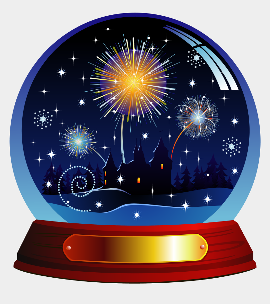 snow globes clipart, Cartoons - Santa Claus Snow Globe Clip Art - New Year Snow Globes