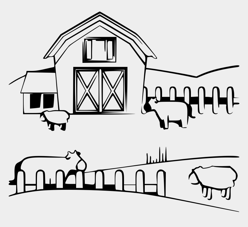 shed clipart, Cartoons - Clipart Barn Farm Shed - Farm Black And White Clipart