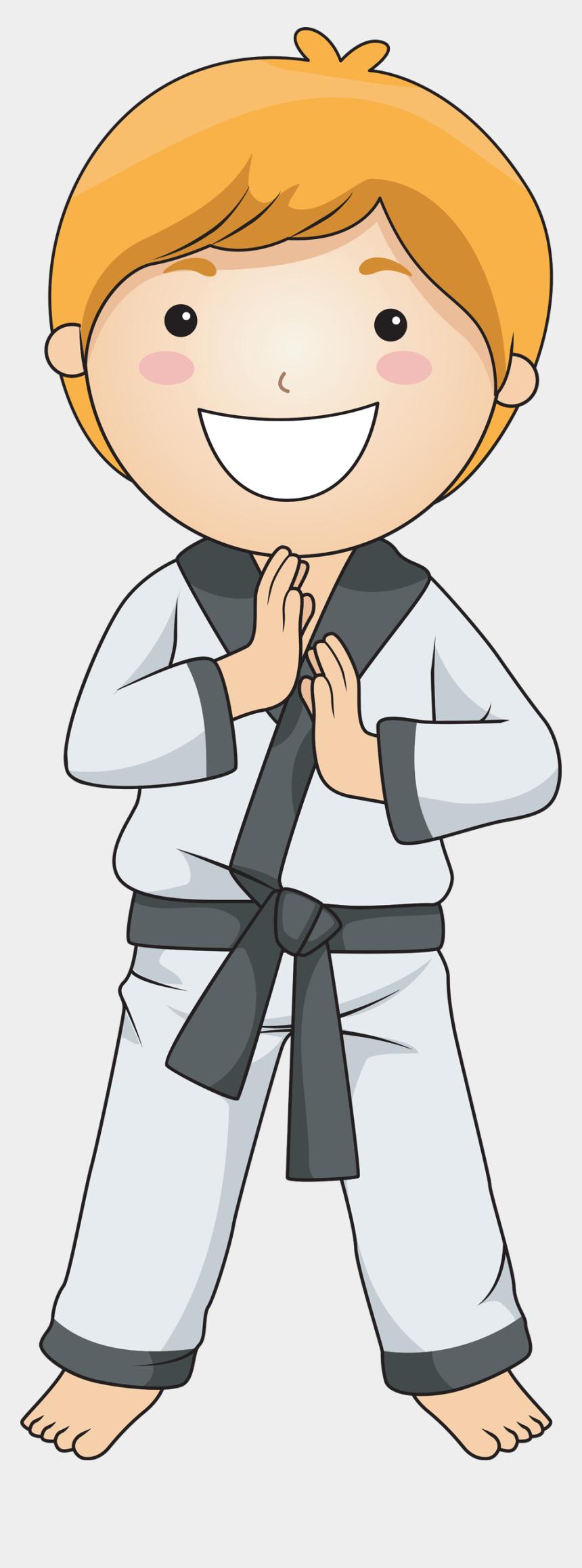 taekwondo clipart, Cartoons - Taekwondo Clip Art Boys - Sack Race Clip Art