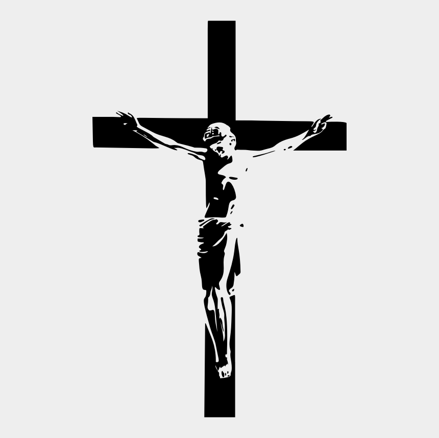 jesus on cross clipart, Cartoons - Crucifix Vector Paint Cross - Jesus Christ Cross Silhouette