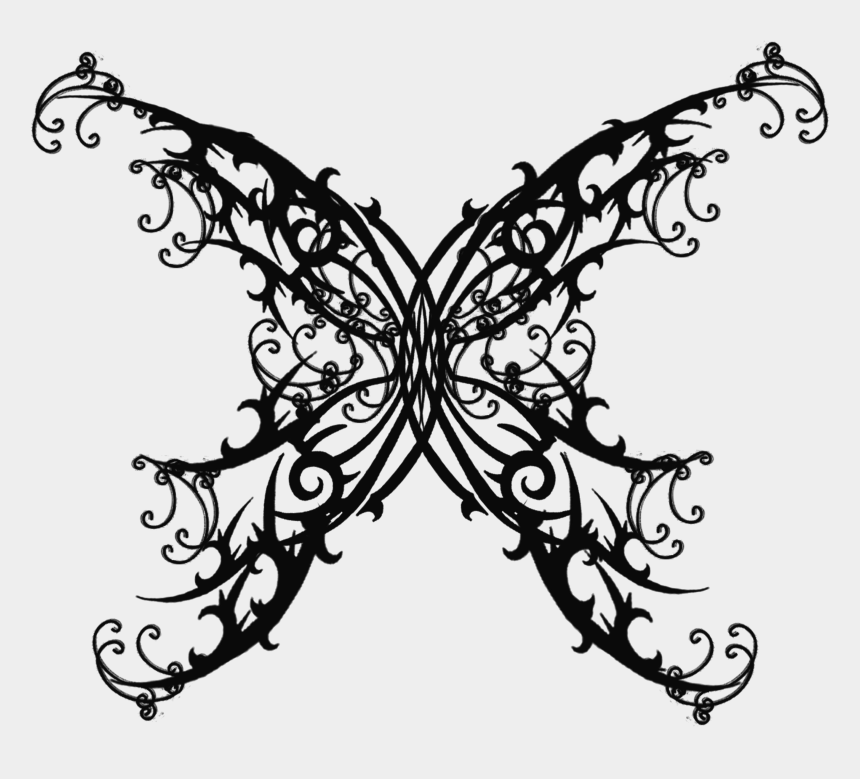 goth clipart, Cartoons - Butterfly Tattoo Png - Black Butterfly Tattoo Small