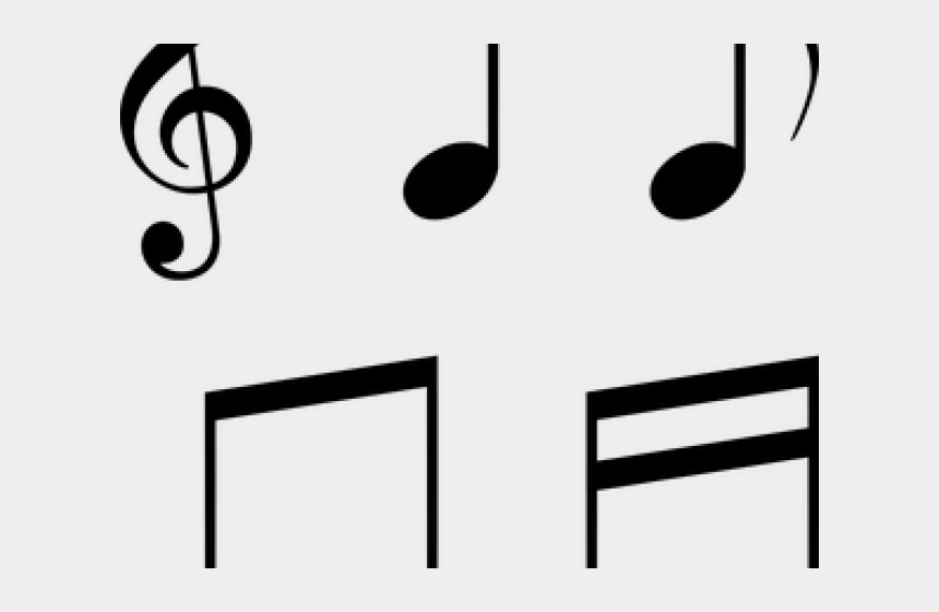 individual clipart, Cartoons - Musical Notes Clipart Individual - Treble Clef