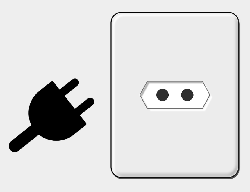 ceiling fan clipart, Cartoons - Electric Outlet - Electrical Plug Clip Art