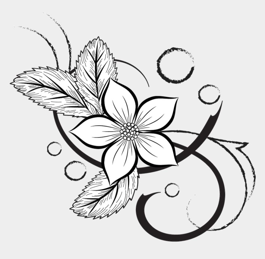 individual clipart, Cartoons - Petal Drawing Individual - Floral Drawing Single