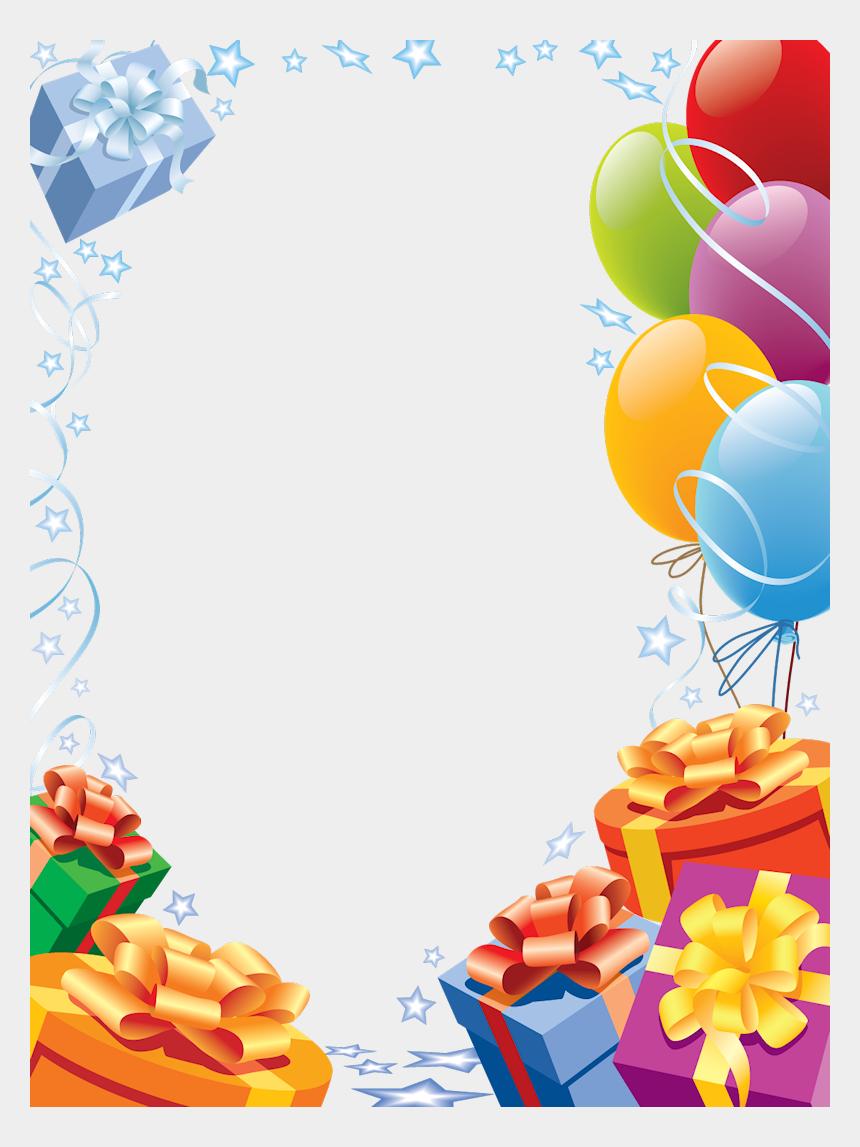 balloon borders clipart, Cartoons - Frame Clipart Balloon - Happy Birthday Frame Png