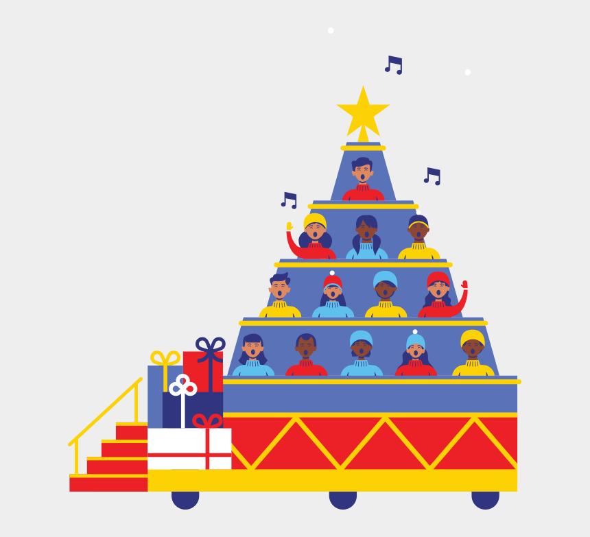 children's choir clipart, Cartoons - Chorus Clipart Navidad - Macy's Singing Christmas Tree