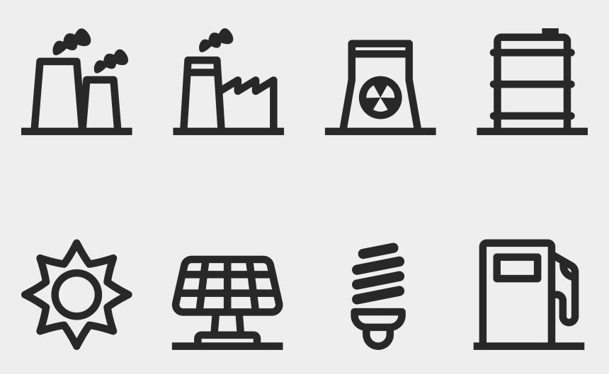 industrial clipart, Cartoons - Technology Factory Chimney Gas - Icon Set For Industries